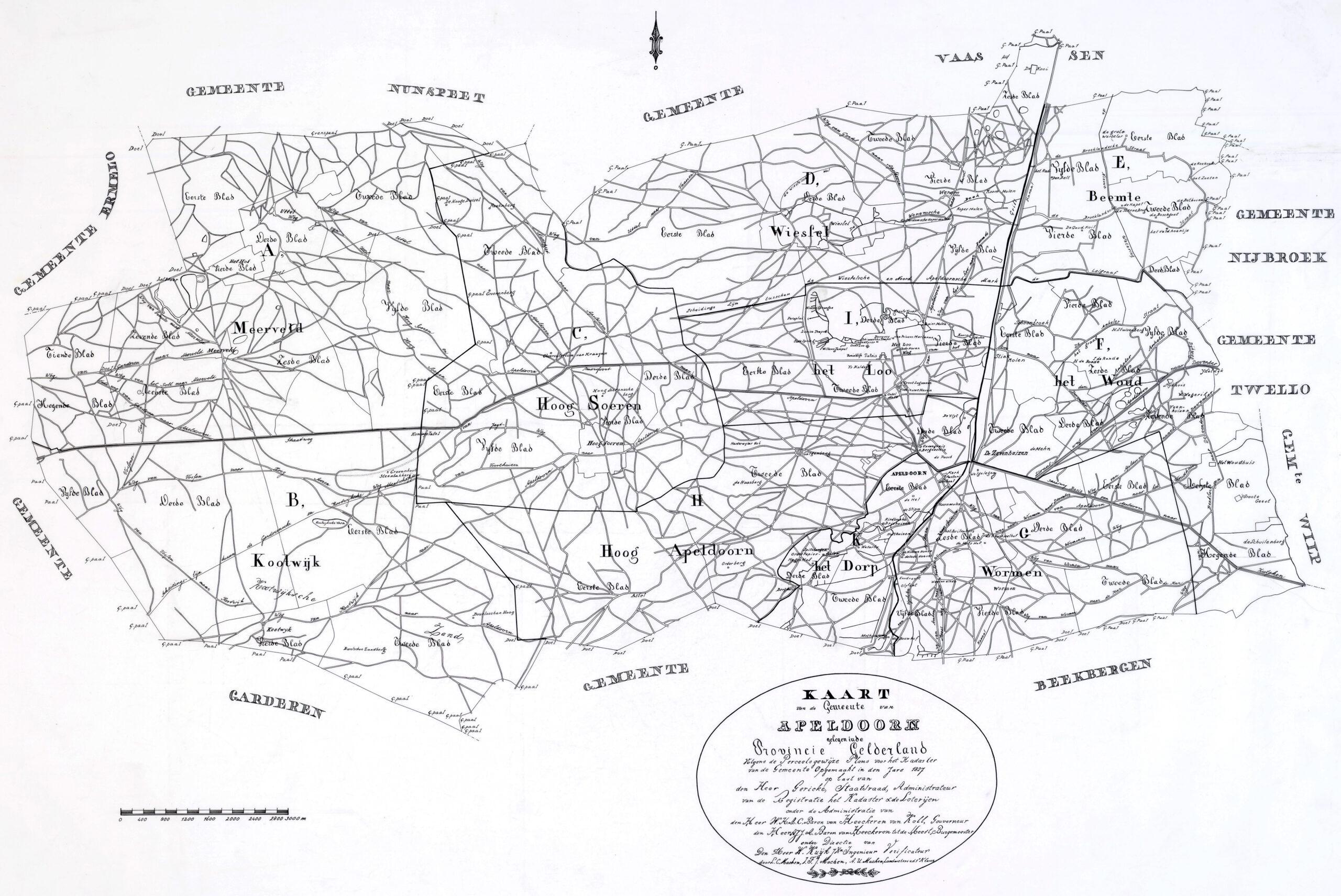 Kadastrale kaart 1811-1832